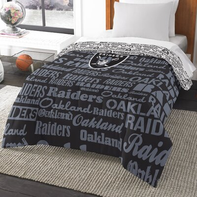 NFL Raiders Anthem Comforter Size: Twin