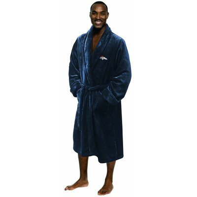 NFL Broncos Mens Bathrobe Size: Large/Extra Large
