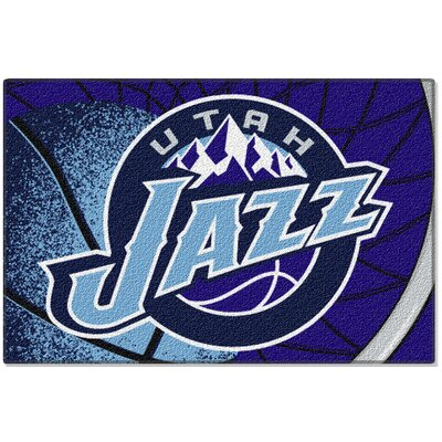 NBA Jazz Blue Area Rug