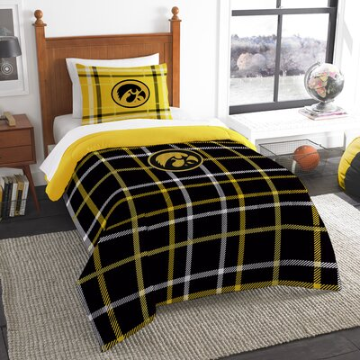 Collegiate Iowa Comforter Set Size: Twin