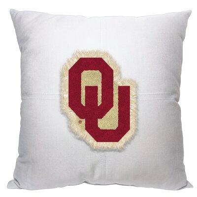Collegiate Oklahoma Cotton Throw Pillow