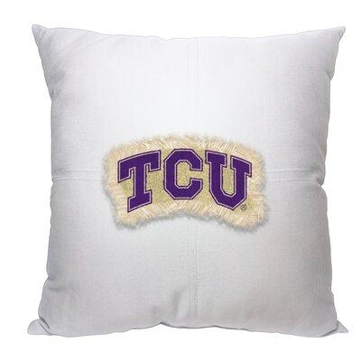 Collegiate Texas Christian Cotton Throw Pillow