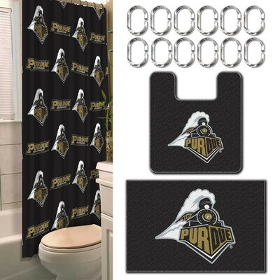 Collegiate Purdue 15 Piece Shower Curtain Set