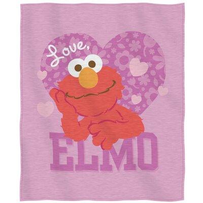 Sesame Street Love Elmo Throw