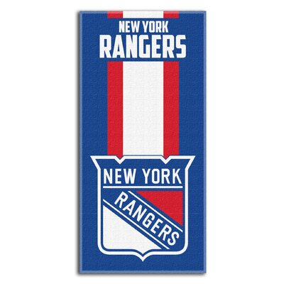 NHL Zone Read Beach Towel NHL Team: New York Rangers