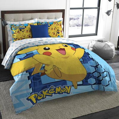 Pokemon Big Pika 3 Piece Comforter Set