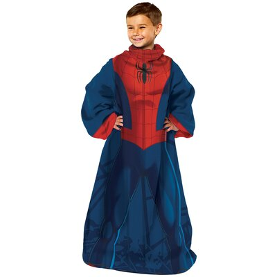 Spiderman- Spider Up Youth Comfy Throw Blanket With Sleeves 1SPD023000002RET