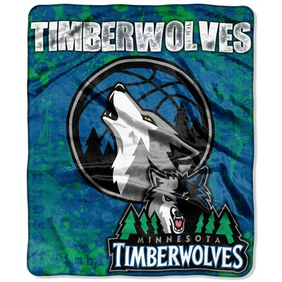NBA Dropdown Raschel Throw NBA Team: Minnesota Timberwolves