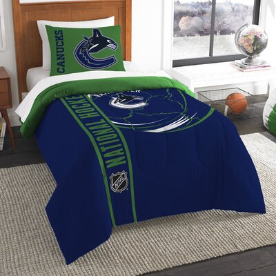 NHL 2 Piece Twin Comforter Set NHL Team: Vancouver Canucks