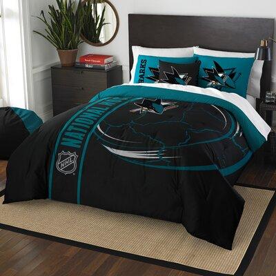 NHL Comforter Set Size: Full, NHL Team: San Jose Sharks