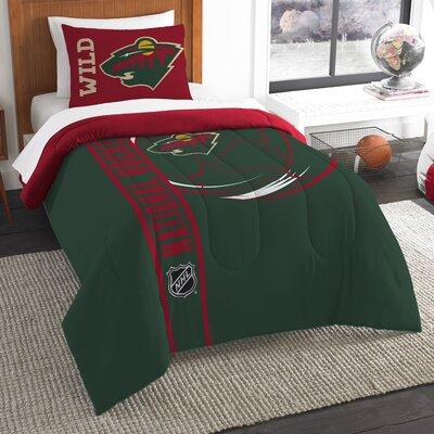NHL 2 Piece Twin Comforter Set NHL Team: Minnesota Wild