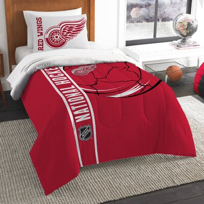 NHL Comforter Set Size: Twin, NHL Team: Detroit Redwings