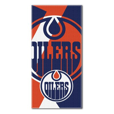 NHL Puzzle Beach Towel NHL Team: Edmonton Oilers