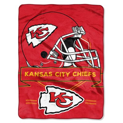 NFL Prestige Raschel Throw NFL Team: Kansas City Chiefs