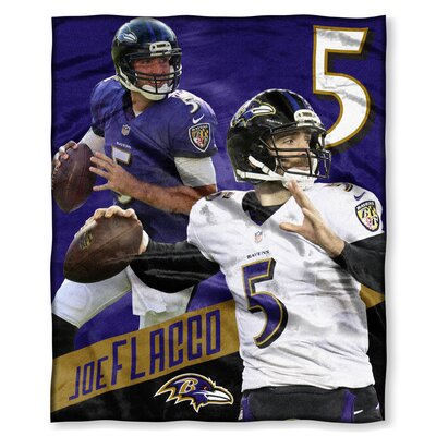 NFL Player Throw Blanket NFL Player: Joe Flacco