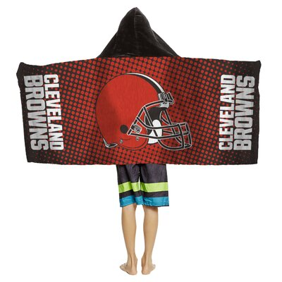 NFL Youth Hooded Beach Towel NFL Team: Cleveland Browns