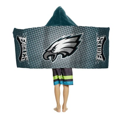 NFL Youth Hooded Beach Towel NFL Team: Philadelphia Eagles