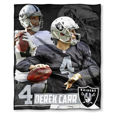 NFL Player Throw Blanket NFL Player: Derek Carr