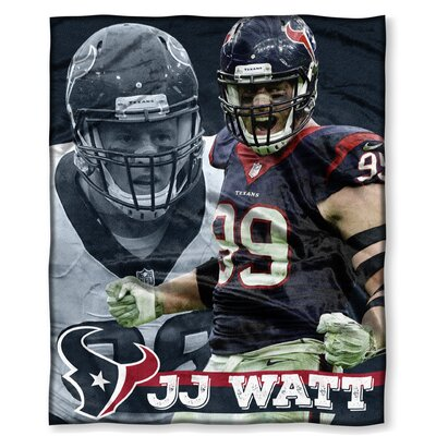 NFL Player Throw Blanket NFL Player: J.J. Watt