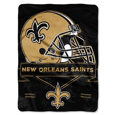 NFL Prestige Raschel Throw NFL Team: New Orleans Saints