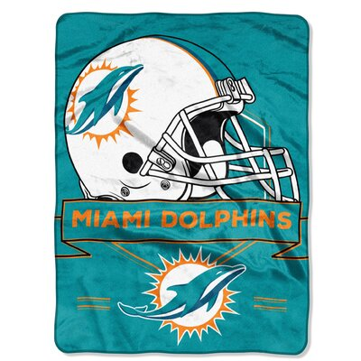 NFL Prestige Raschel Throw NFL Team: Miami Dolphins