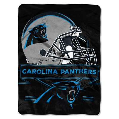 NFL Prestige Raschel Throw NFL Team: Carolina Panthers