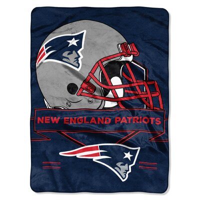 NFL Prestige Raschel Throw NFL Team: New England Patriots
