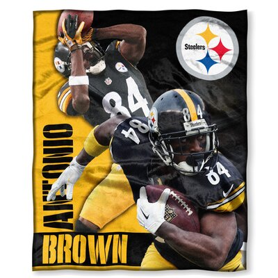 NFL Player Throw Blanket NFL Player: Antonio Brown