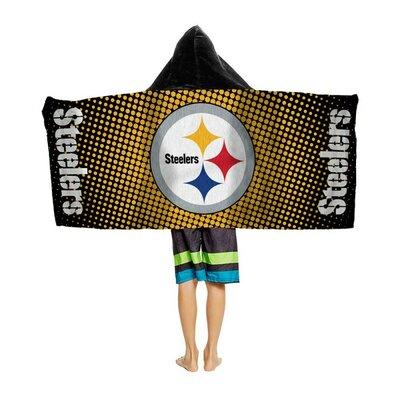 NFL Youth Hooded Beach Towel NFL Team: Pittsburgh Steelers