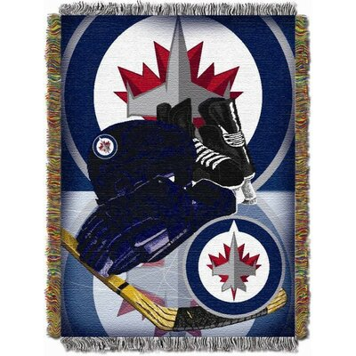 NHL Home Ice Advantage Tapestry Throw Blanket NHL Team: Winnipeg Jets