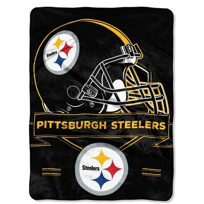 NFL Prestige Raschel Throw NFL Team: Pittsburgh Steelers