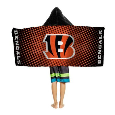 NFL Youth Hooded Beach Towel NFL Team: Cincinnati Bengals