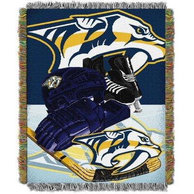 NHL Home Ice Advantage Tapestry Throw Blanket NHL Team: Nashville Predators
