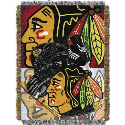 NHL Home Ice Advantage Tapestry Throw Blanket NHL Team: Chicago Blackhawks