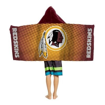 NFL Youth Hooded Beach Towel NFL Team: Washington Redskins