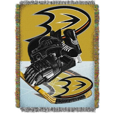 NHL Home Ice Advantage Tapestry Throw Blanket NHL Team: Anaheim Ducks