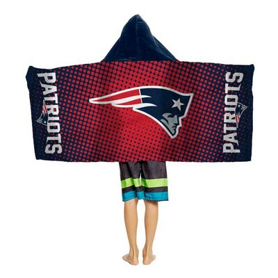 NFL Youth Hooded Beach Towel NFL Team: New England Patriots