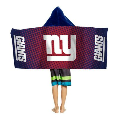 NFL Youth Hooded Beach Towel NFL Team: New York Giants