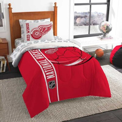 NHL Bed-In-A-Bag Set NHL Team: Detroit Redwings, Size: Twin