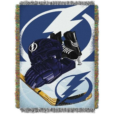 NHL Home Ice Advantage Tapestry Throw Blanket NHL Team: Tampa Bay Lightning