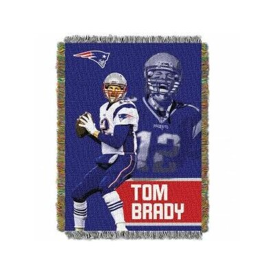 NFL Tom Brady Player Throw Blanket