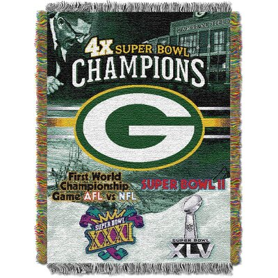 NFL Green Bay Packers Commemorative Tapestry Throw