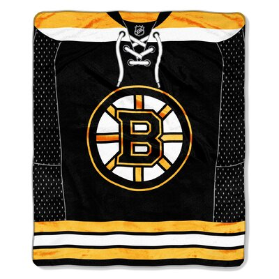 NHL Boston Bruins Super Plush Throw