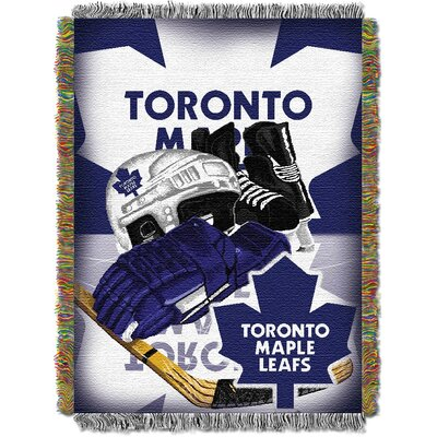 NHL Home Ice Advantage Tapestry Throw Blanket NHL Team: Toronto Maple Leafs