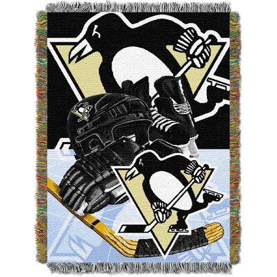NHL Home Ice Advantage Tapestry Throw Blanket NHL Team: Pittsburgh Penguins