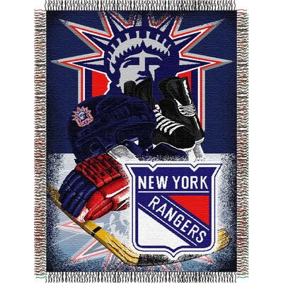 NHL Home Ice Advantage Tapestry Throw Blanket NHL Team: New York Rangers