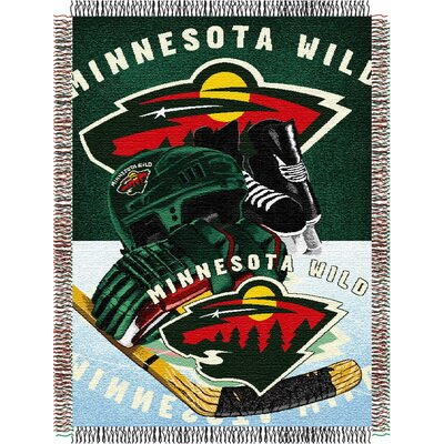 NHL Home Ice Advantage Tapestry Throw Blanket NHL Team: Minnesota Wild