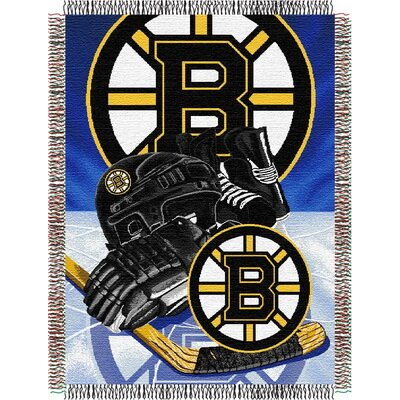 NHL Home Ice Advantage Tapestry Throw Blanket NHL Team: Boston Bruins