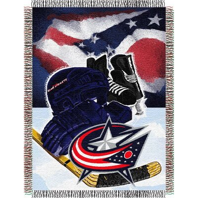 NHL Home Ice Advantage Tapestry Throw Blanket NHL Team: Columbus Blue Jackets