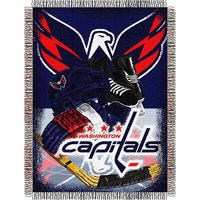 NHL Home Ice Advantage Tapestry Throw Blanket NHL Team: Washington Capitals
